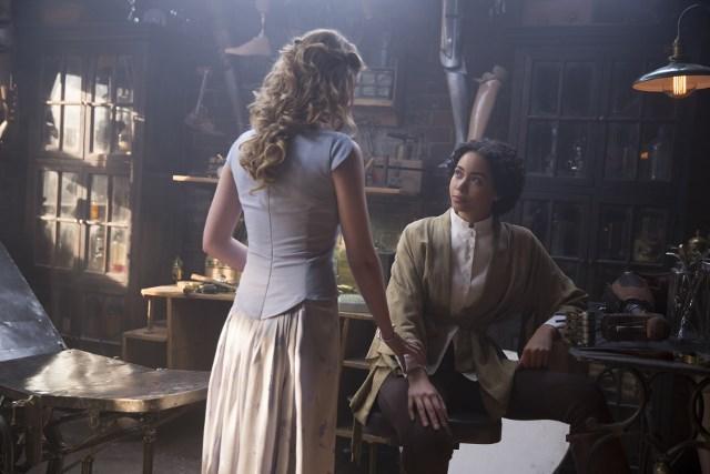 Sarah Bolger as Jade and Madeleine Mantock as Veil - Into the Badlands _ Season 1, Episode 3 - Photo Credit: Patti Perret/AMC