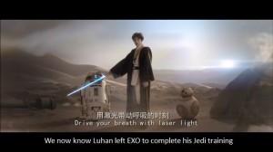 Lu Han showing off his inner force