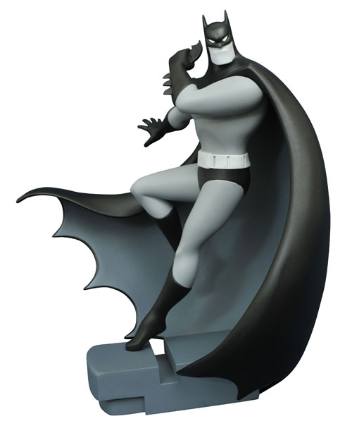FEB168429 STL009976 DC GALLERY BATMAN TAS B&W BATMAN FIG