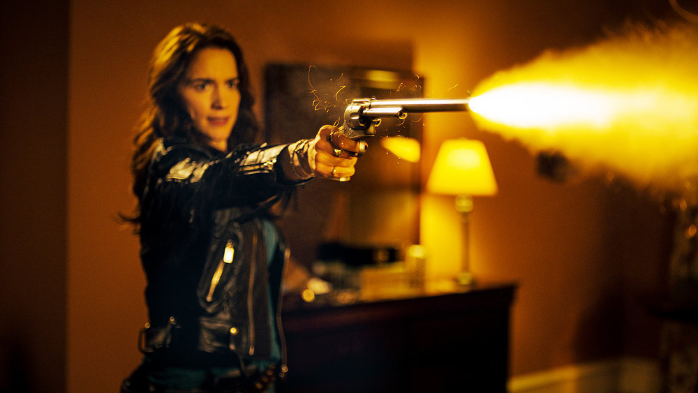 "WYNONNA EARP -- ""The Blade"" Episode 104 -- Pictured: Melanie Scrofano as Wynonna Earp -- (Photo by: Syfy/Wynonna Earp Productions)"