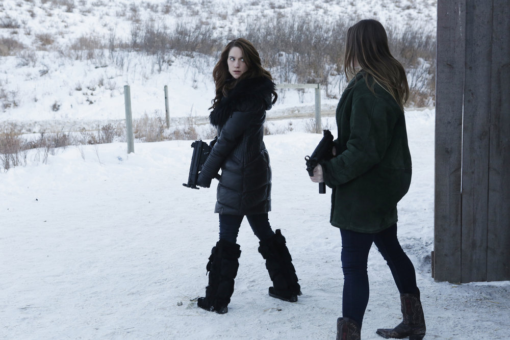 "WYNONNA EARP -- ""Landslide"" Episode 111 -- Pictured: Melanie Scrofano as Wynonna Earp -- (Photo by: Michelle Faye/Syfy/Wynonna Earp Productions)"