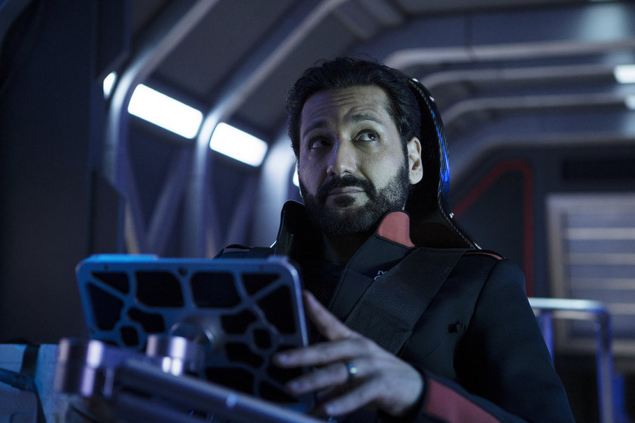"THE EXPANSE -- ""Back to the Butcher"" Episode 105 -- Pictured: Cas Anvar as Alex Kamal -- (Photo by: Rafy/Syfy)"