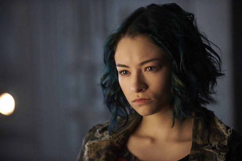 "DARK MATTER -- ""Kill Them All"" Episode 202 -- Pictured: Jodelle Ferland as Five -- (Photo by: Russ Martin/Prodigy Pictures/Syfy)"