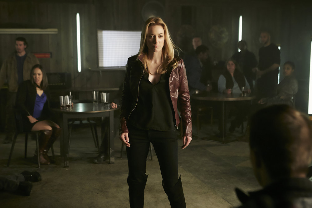 """DARK MATTER -- """"We Voted Not to Space You"""" Episode 205 -- Pictured: Zoie Palmer as The Android -- (Photo by: Ian Watson/Prodigy Pictures/Syfy)"""