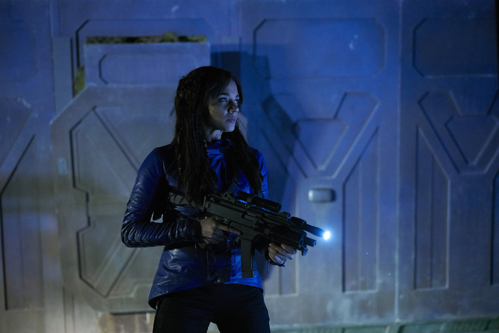 KILLJOYS -- Episode 203 -- Pictured: Hannah John-Kamen as Dutch -- (Photo by: Steve Wilkie/Syfy/Killjoys II Productions Limited)