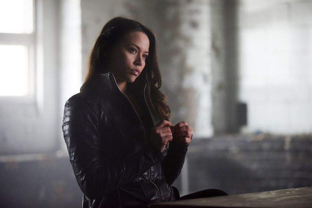 """DARK MATTER -- """"Stuff to Steal, People to Kill"""" Episode 208 -- Pictured: Melissa O'Neil as Two -- (Photo by: Russ Martin/Prodigy Pictures/Syfy)"""