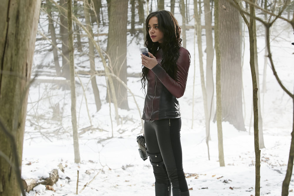 "KILLJOYS -- ""Heart-Shaped Box"" Episode 207 -- Pictured: Hannah John-Kamen as Dutch -- (Photo by: Ian Watson/Syfy/Killjoys II Productions Limited)"