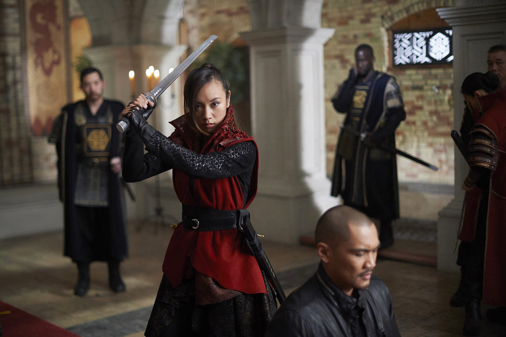 """DARK MATTER -- """"Sometimes In Life You Don't Get to Choose"""" Episode 212 -- Pictured: Ellen Wong as Misaki Han-Shireikan -- (Photo by: Russ Martin/Prodigy Pictures/Syfy)"""