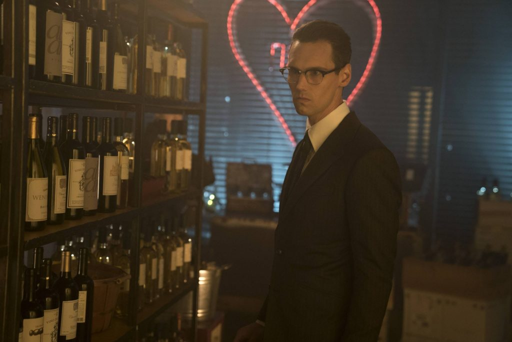 GOTHAM: Cory Michael Smith in the ÒMad City: Follow the White RabbitÓ episode of GOTHAM airing Monday, Oct. 24 (8:00-9:01 PM ET/PT) on FOX. ©2016 Fox Broadcasting Co. Cr: Jessica Miglio/FOX.