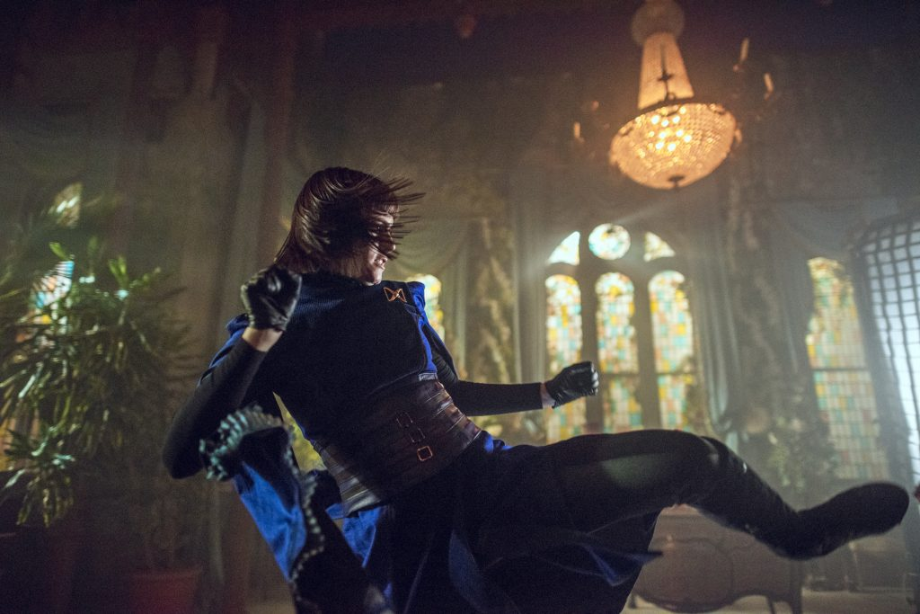 Ally Ioannides as Tilda, Emily Beecham as The Widow - Into the Badlands _ Season 2, Episode 9 - Photo Credit: Antony Platt/AMC