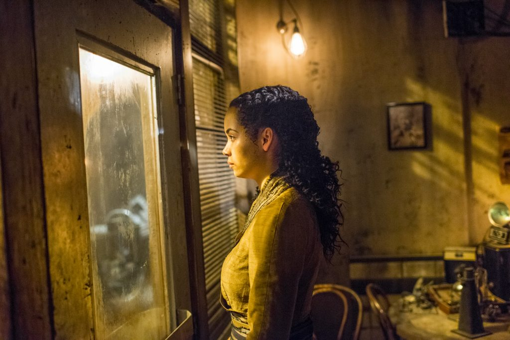 Madeleine Mantock as Veil - Into the Badlands _ Season 2, Episode 10 - Photo Credit: Antony Platt/AMC