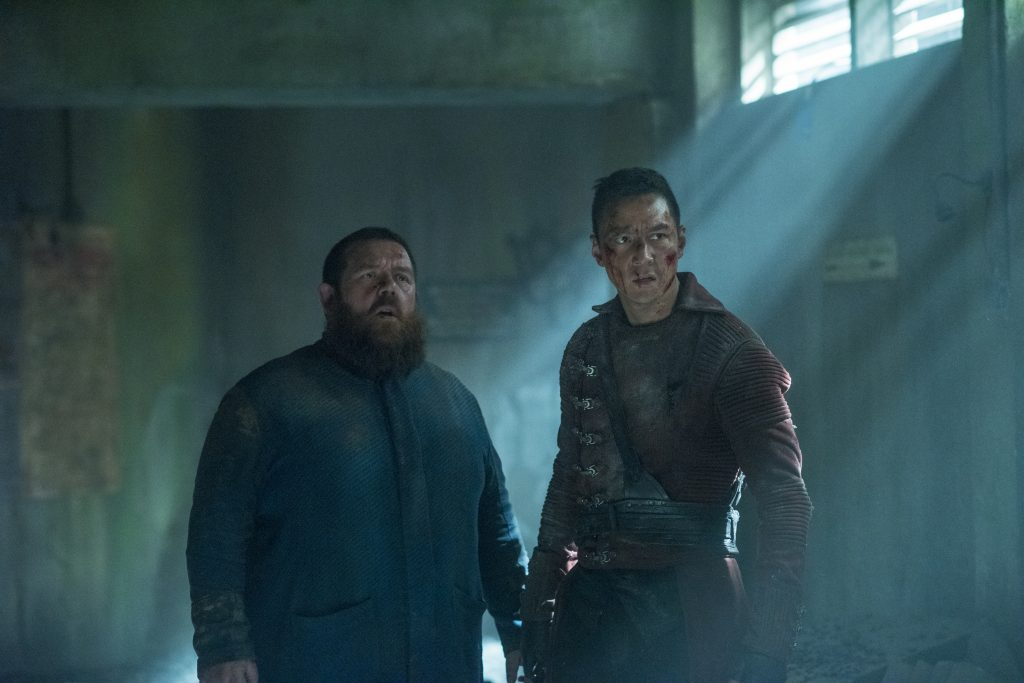 Daniel Wu as Sunny, Nick Frost as Bajie - Into the Badlands _ Season 2, Episode 10 -