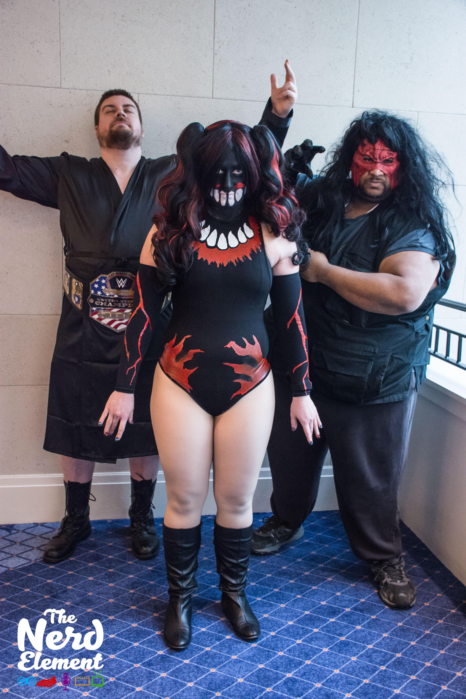 WWE cosplays Cosplayers: @thewholekittncaboodle and @damiondark