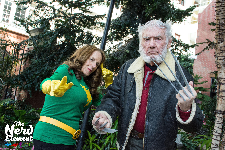 Jean Grey/Phoenix & Old Man Logan Cosplayers: @white.oaks.walkers (ig)