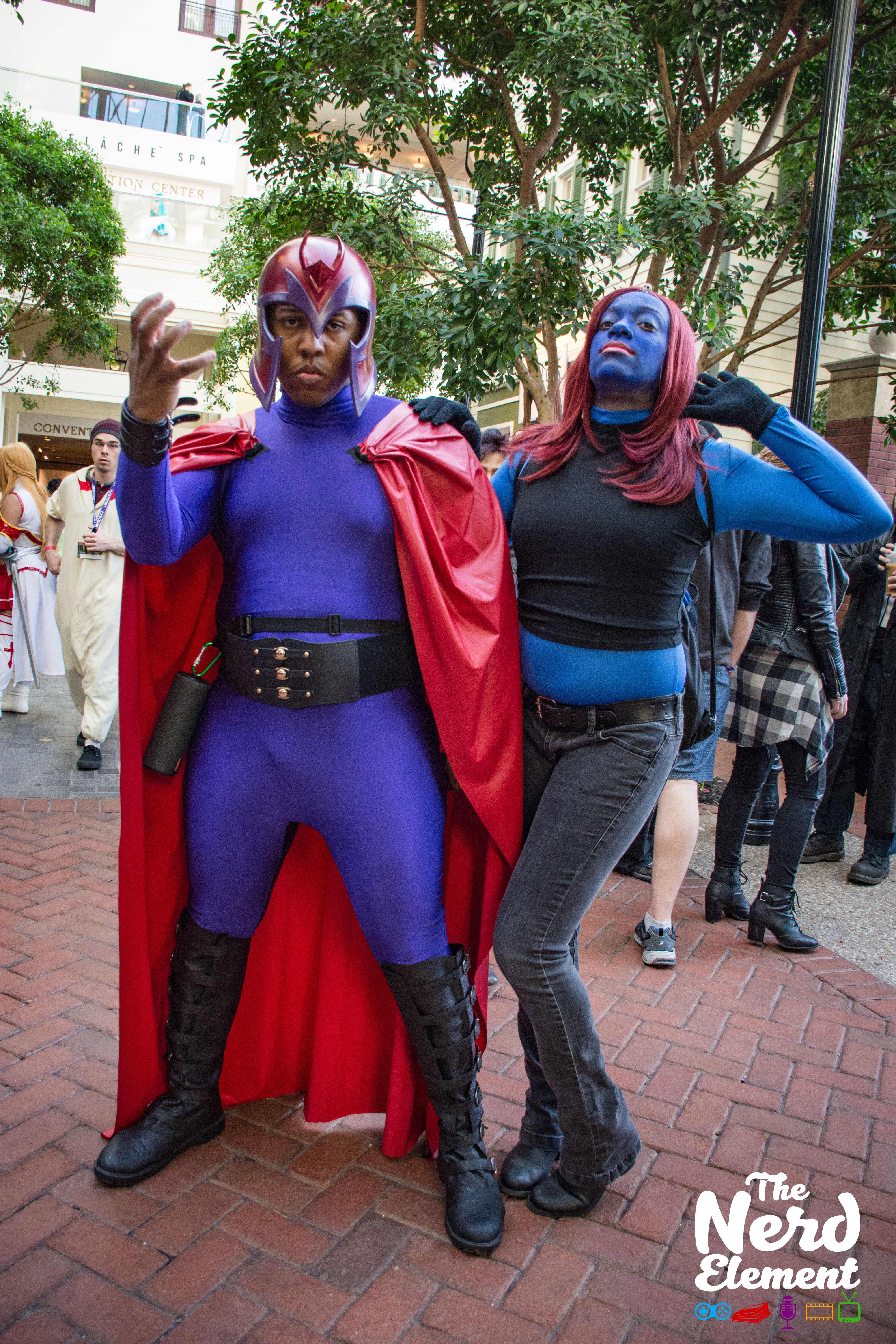 Magneto and Mystique Cosplayers: @dgcollins28 and @mikettedw