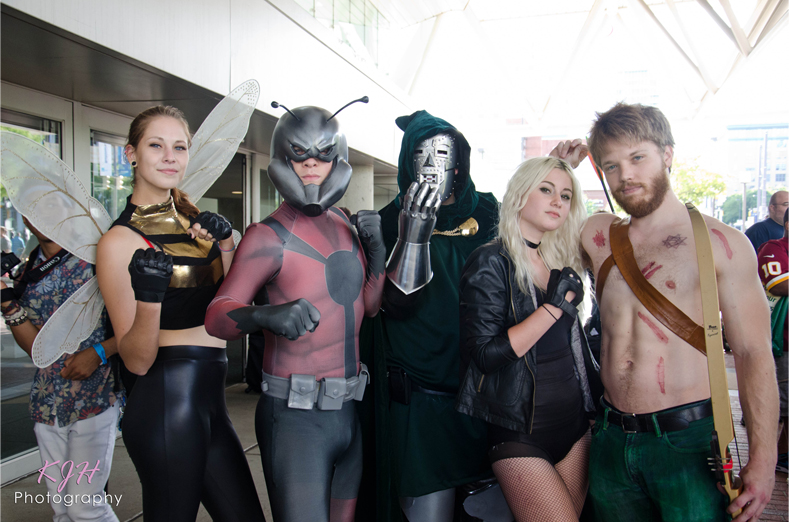 Wasp, Ant Man, Dr. Doom, Black Canary, and Green Arrow