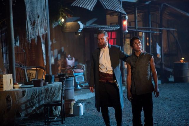 Marton Csokas as Quinn and Aramis Knight as M.K. - Into the Badlands _ Season 1, Episode 6 - Photo Credit: Patti Perret/AMC