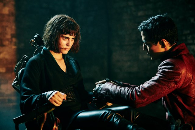 Ally Ioannides as Tilda and Daniel Wu as Sunny - Into the Badlands _ Season 1, Episode 5 - Photo Credit: James Minchin III/AMC