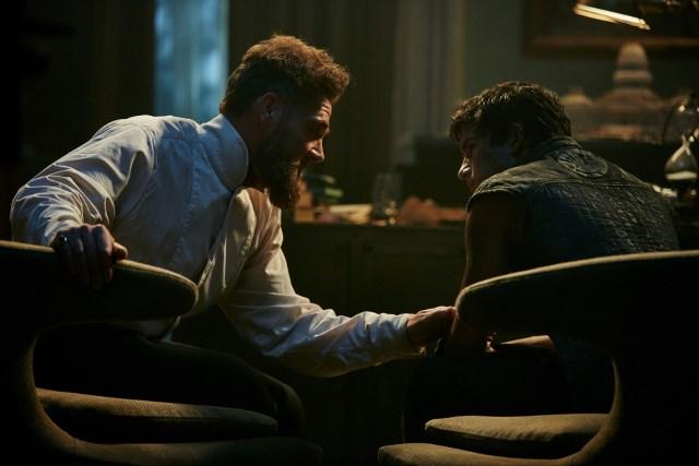 Marton Csokas as Quinn and Aramis Knight as M.K. - Into the Badlands _ Season 1, Episode 6 - Photo Credit: James Minchin III/AMC