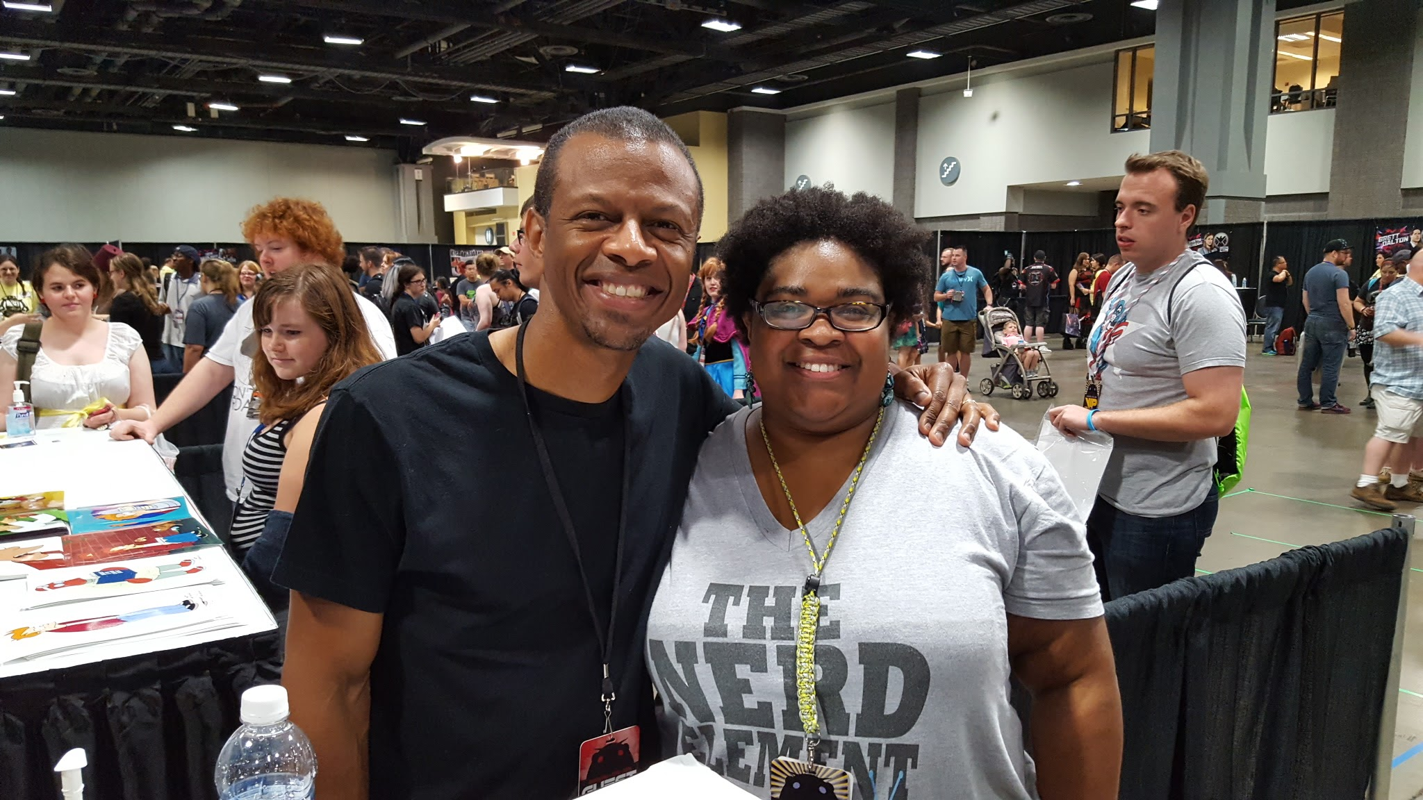 Natty with Phil LaMarr