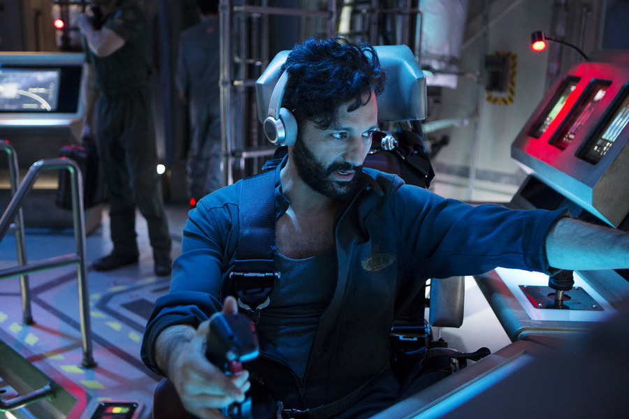 "THE EXPANSE -- ""Dulcinea"" Episode 101 -- Pictured: Cas Anvar as Alex Kamal -- (Photo by: Rafy/Syfy)"