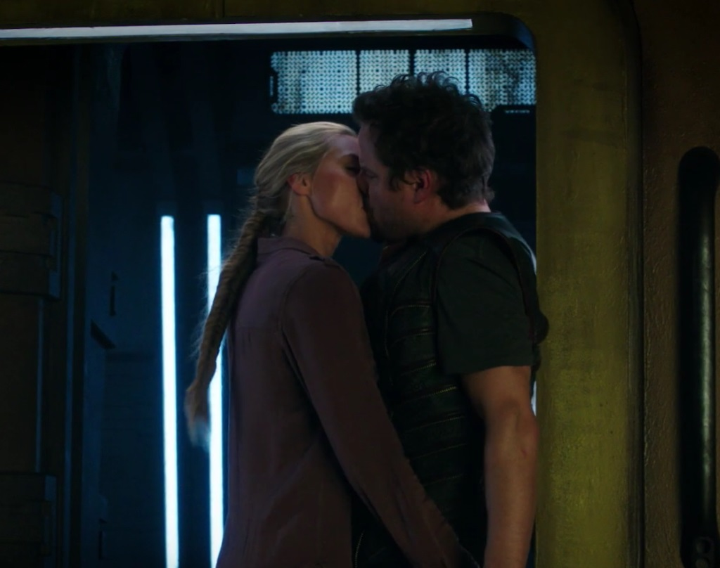 """DARK MATTER -- """"Stuff to Steal, People to Kill"""" Episode 208 -- Pictured: Jessica Sipos as Tash and Anthony Lemke as Three"""