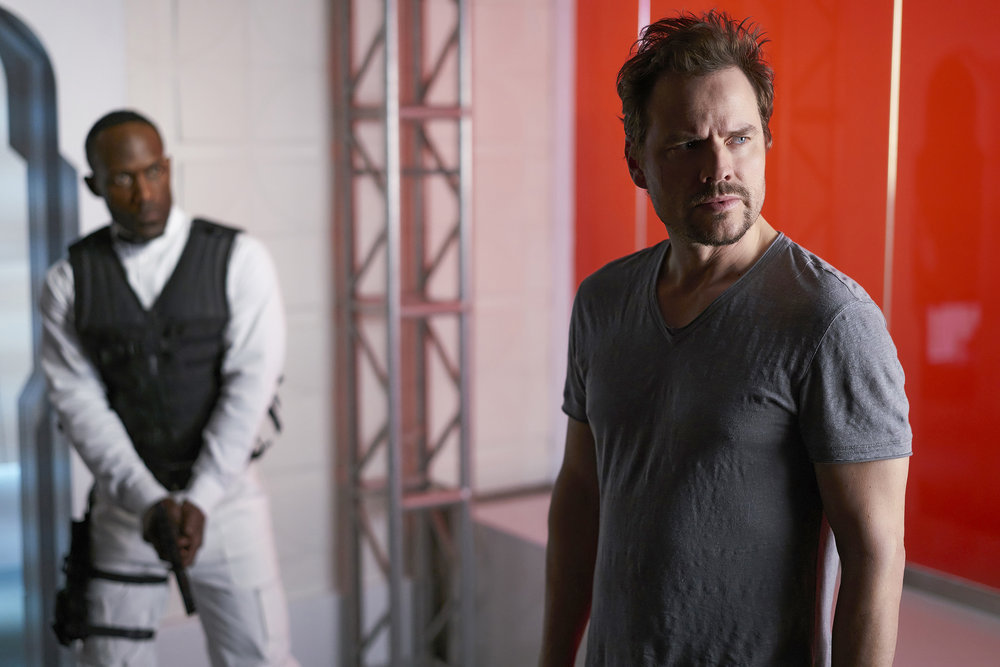 "DARK MATTER -- ""Going Out Fighting"" Episode 209 -- Pictured: Anthony Lemke as Three -- (Photo by: Russ Martin/Prodigy Pictures/Syfy)"