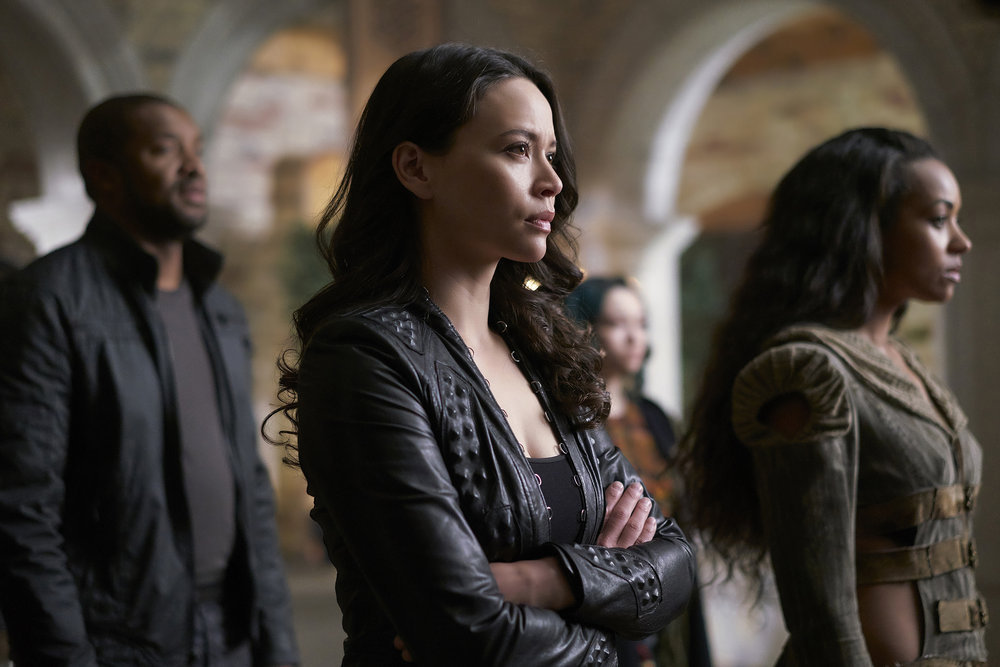 """DARK MATTER -- """"Sometimes In Life You Don't Get to Choose"""" Episode 212 -- Pictured: Melissa O'Neil as Two -- (Photo by: Russ Martin/Prodigy Pictures/Syfy)"""
