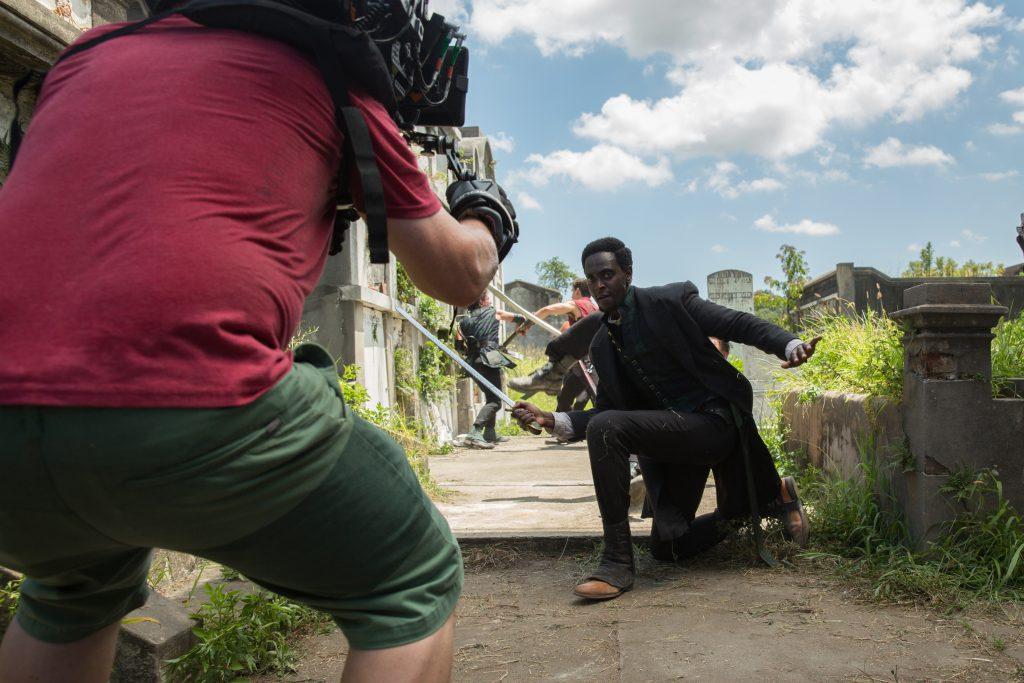 Edi Gathegi as Jacobee - Into the Badlands _ Season 1, Episode 4 - Photo Credit: Hilary Bronwyn Gayle/AMC