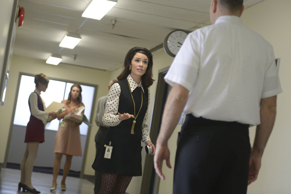 """TIMELESS -- """"Space Race"""" Episode 107 -- Pictured: Abigail Spencer as Lucy Preston -- (Photo by: Sergei Bachlakov/NBC)"""