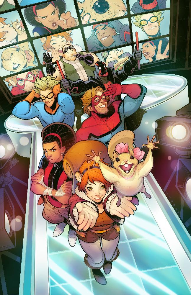 MARVEL'S NEW WARRIORS (Marvel)DEBRII, SPEEDBALL, SQUIRREL GIRL, TIPPY-TOE, MICROBE, MISTER IMMORTAL, NIGHT THRASHER