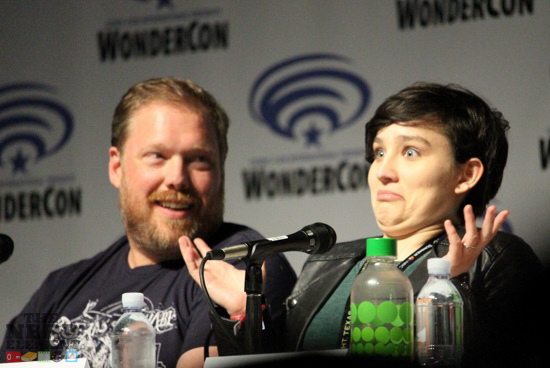 Writer Tim Hendrick and actress Bex Taylor-Klaus at the Voltron Panel