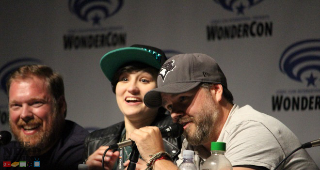 Bex Taylor-Klaus and Tyler Labine at the Voltron Panel