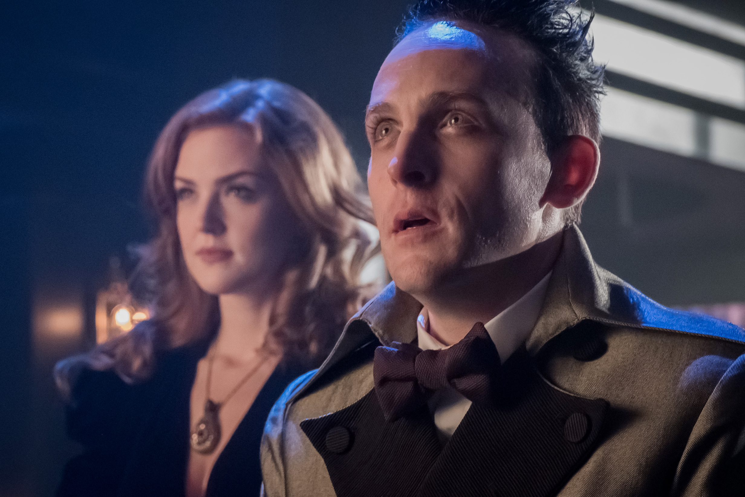 "L-R: Maggie Geha and Robin Lord Taylor in the ""Pax Penguina"" season premiere episode of GOTHAM  ©2017 Fox Broadcasting Co. Cr: Jeff Neumann/FOX."