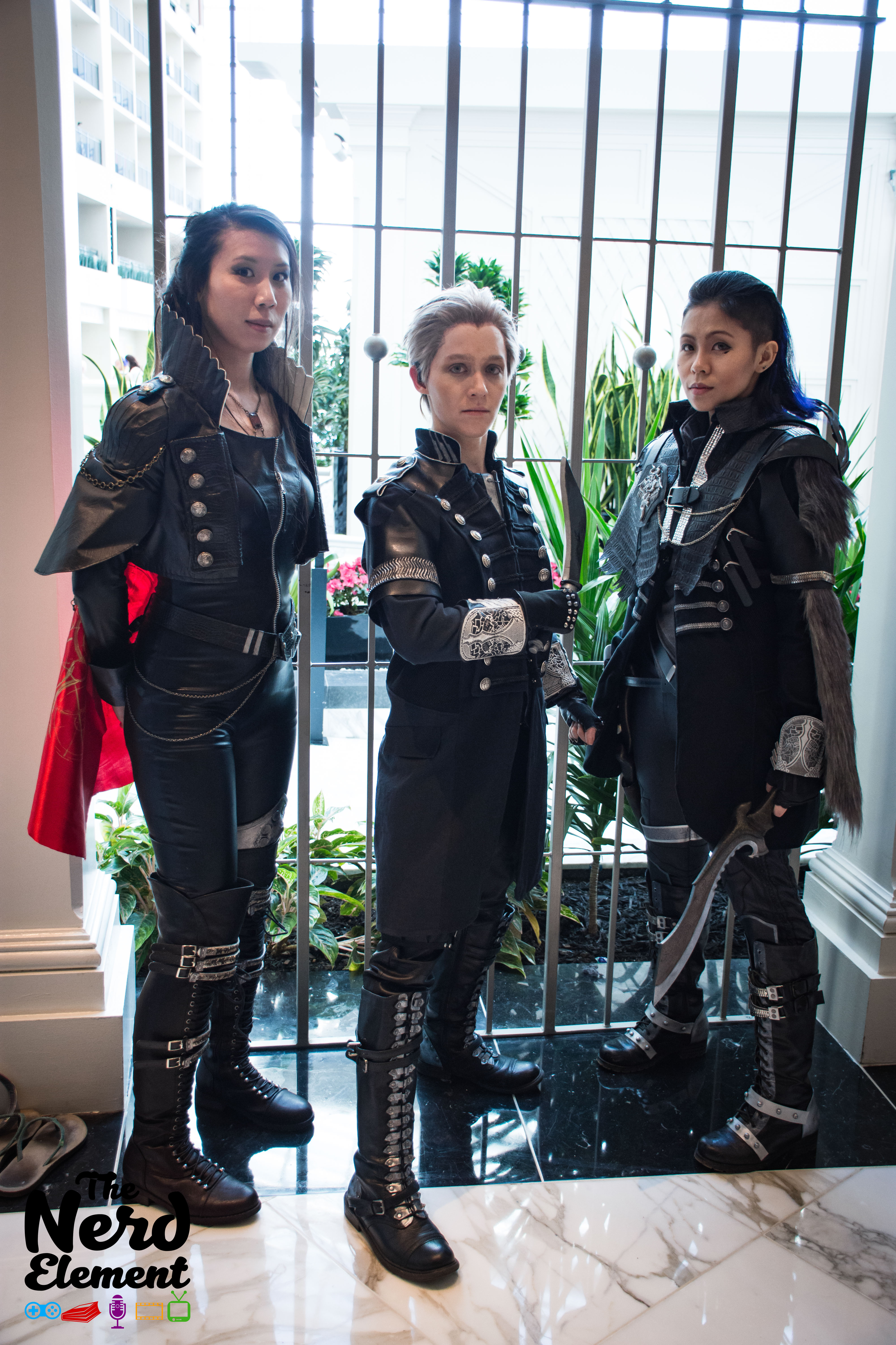 Crowe. Luche, and Nyx - Final Fantasy XV: Kingslglaive  Cosplayers: @somaruyoh, @chibidudecosplay @lacee_girl (All instagram)