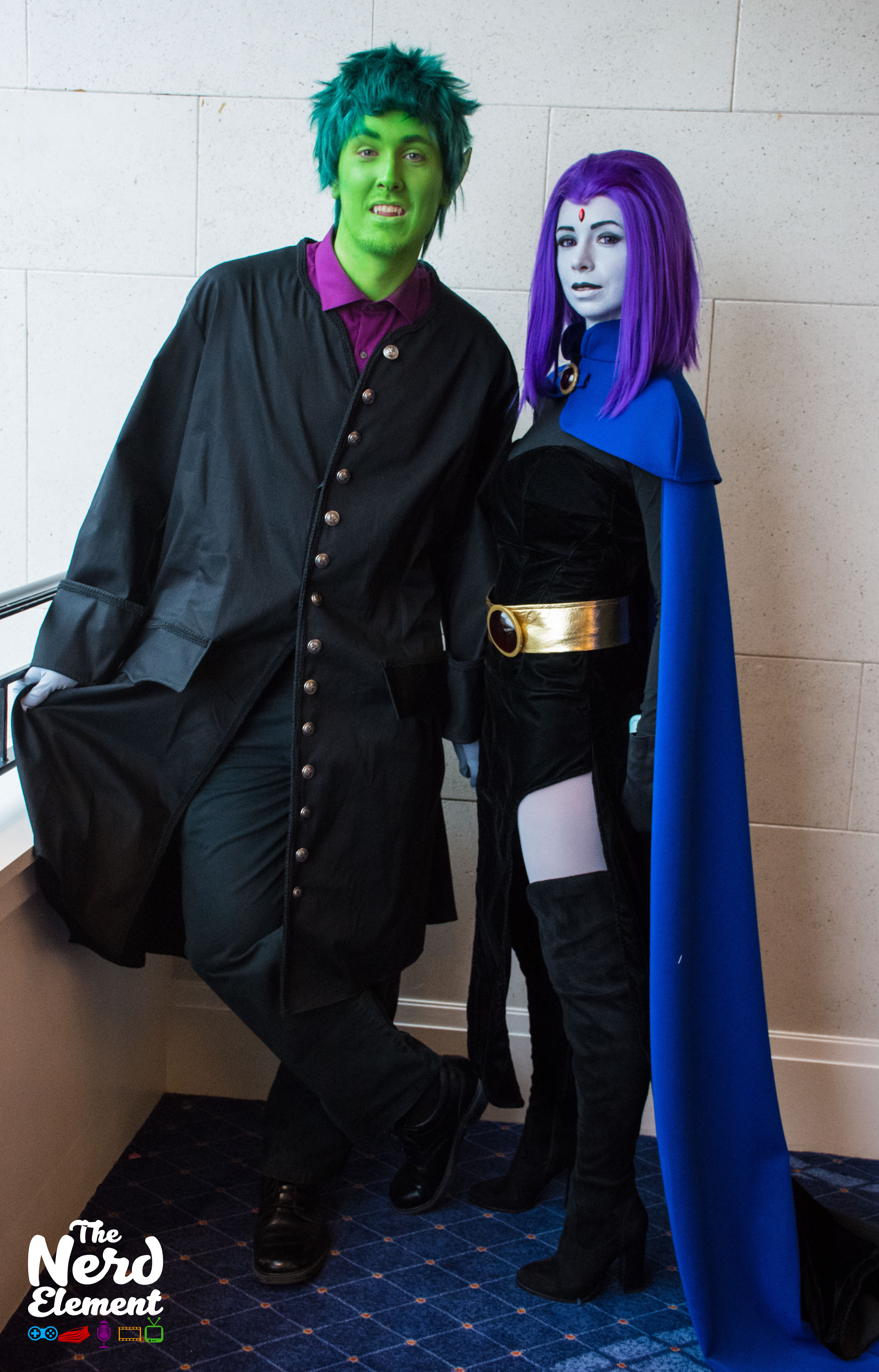 Beast Boy and Raven - Teen Titans Cosplayers: @jakedawolfman123 and @focsee