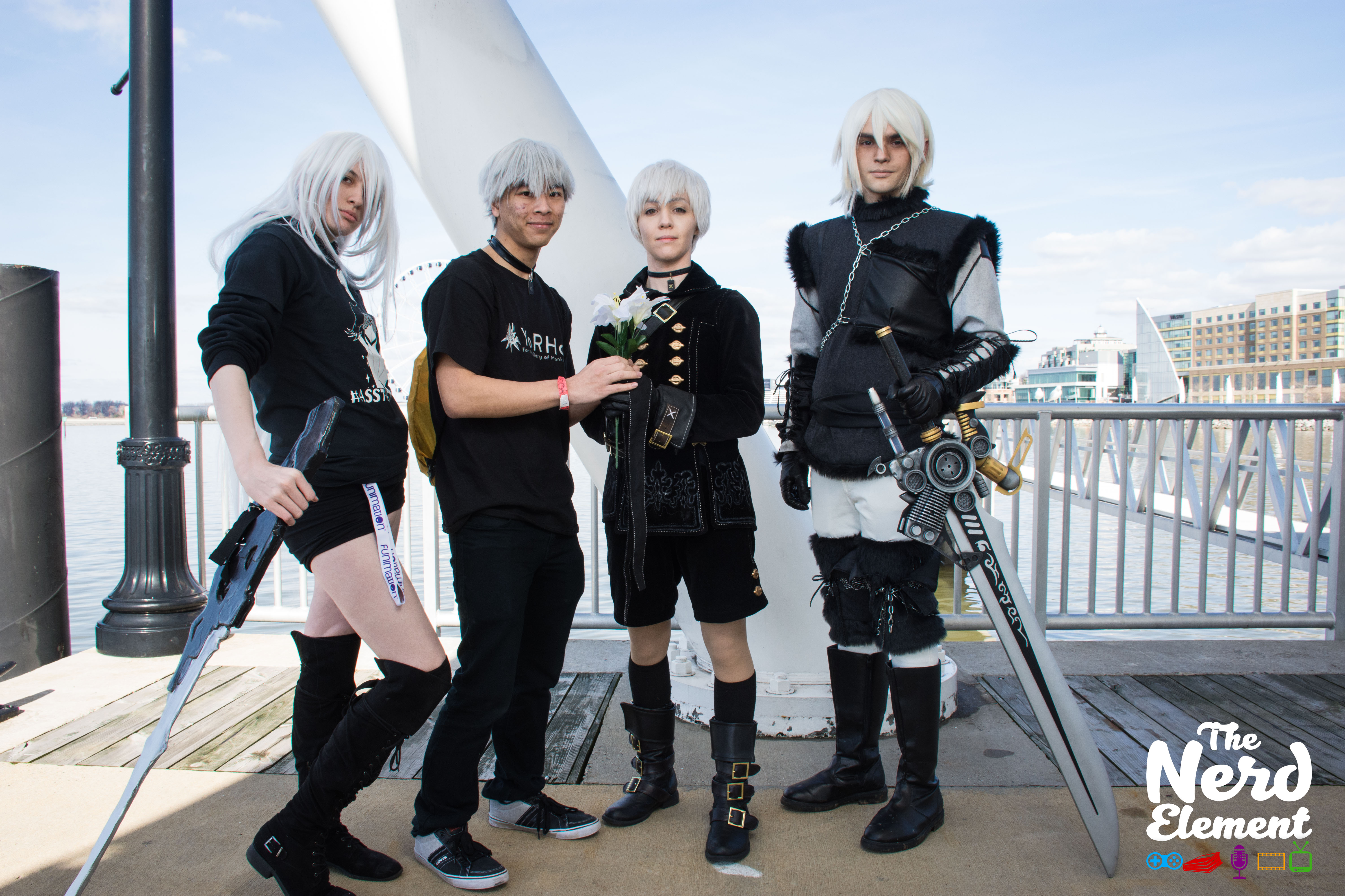 A2, Casual 9S, 9S, and Nier - Nier series Cosplayers: @laun_cosplay, @cashcoi, @chibidudecosplay, and @kradenine