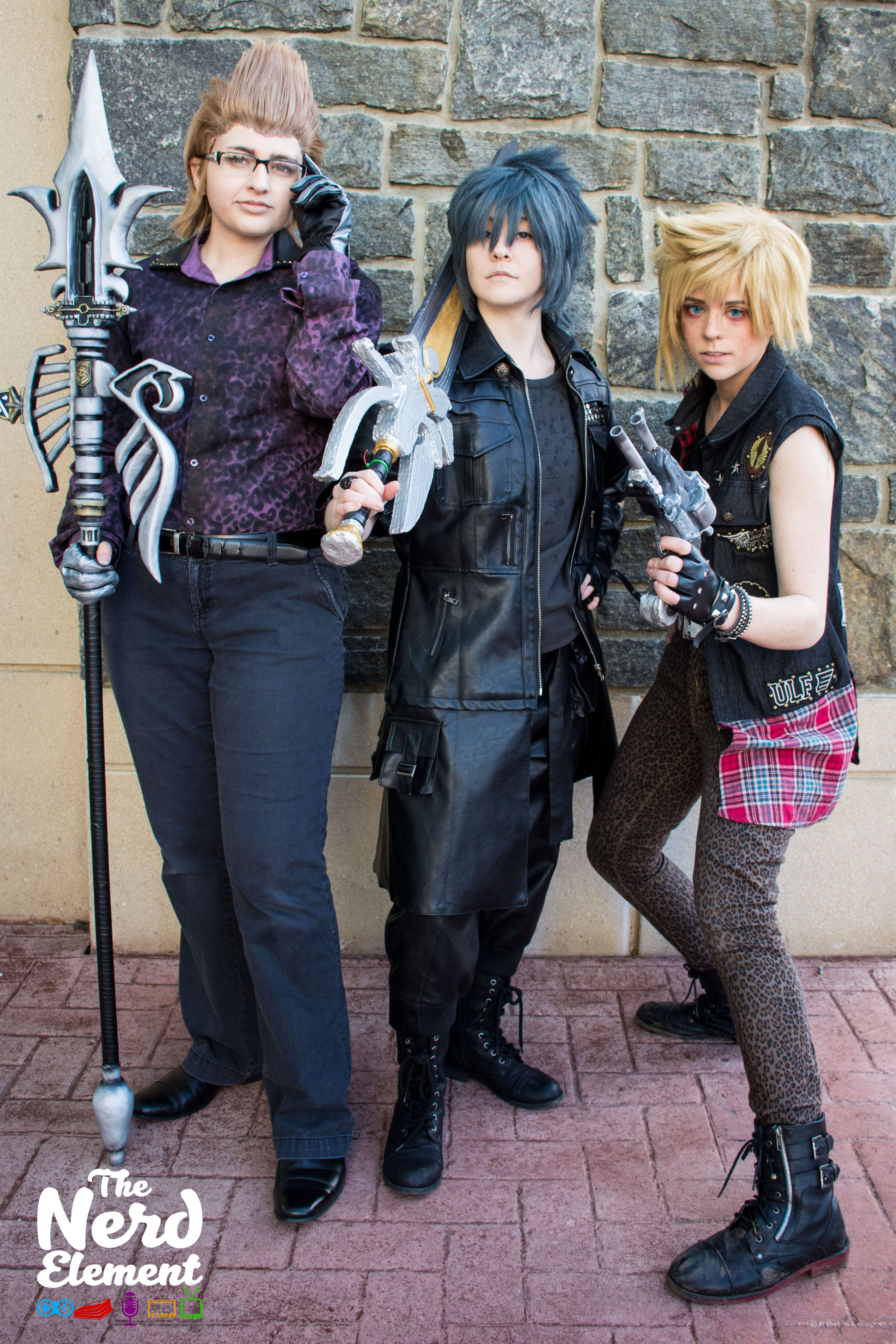 Ignis, Noctis, and Prompto - Final Fantasy XV Cosplayers: s_noelle_cosplay (ig), and zeikani (ig),